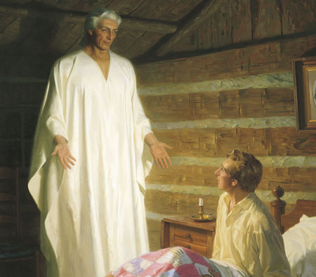 Ангел Мороний посещает Джозефа Смита