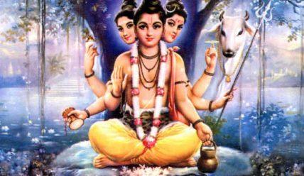 Даттатрея – божество о трёх головах.