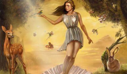 Афродіта – богиня кохання та вроди у давньогрецькій міфології.